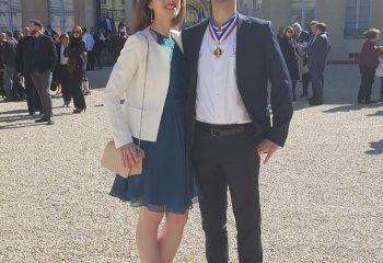 Justine & Nicolas ROUX au palais de l'Elysée